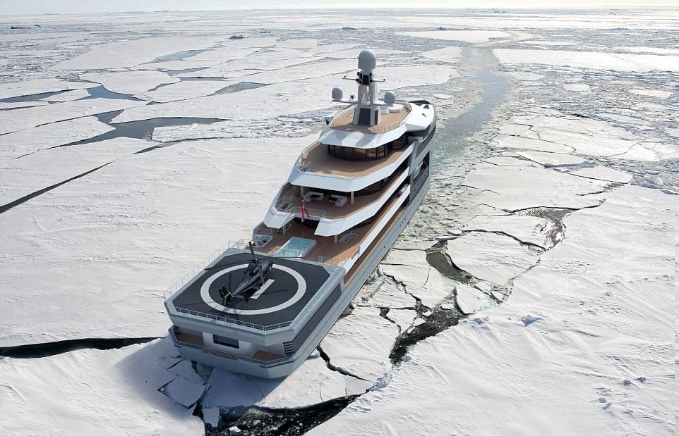 5. Вертолетная площадка. Главный секрет и особенность SeaXplorer заключается в том, что эта яхта — л