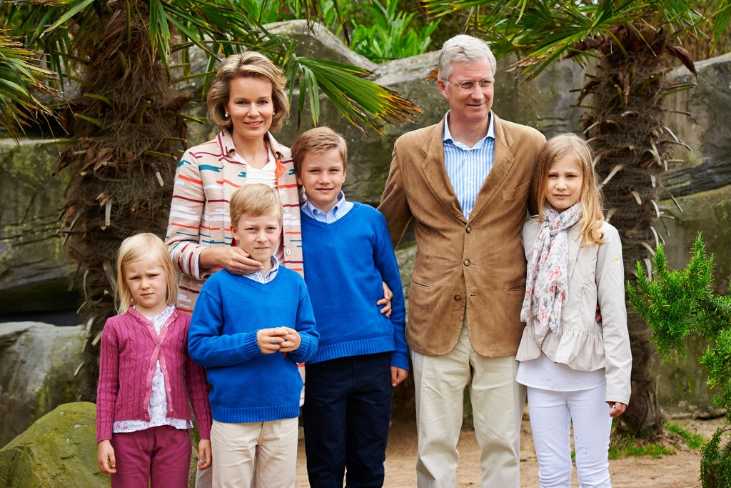 …у нынешних короля и королевы Бельгии четверо детей.