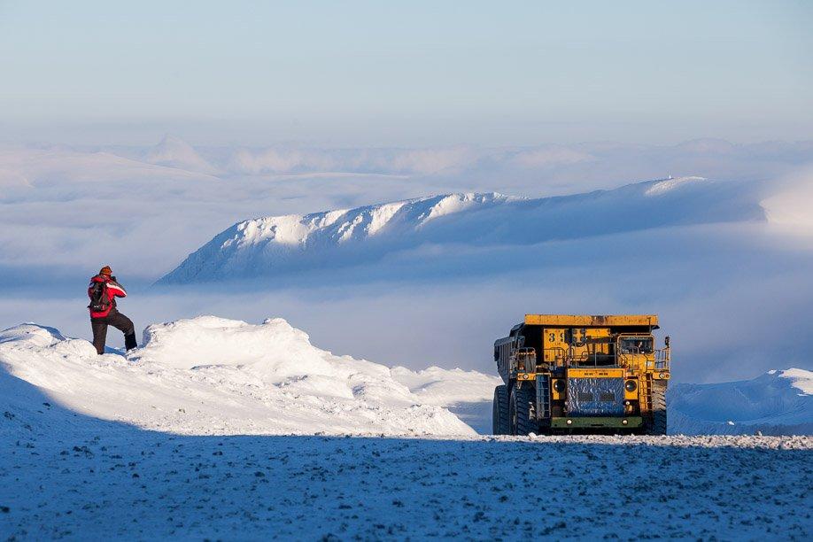 Промплощадка рудника «Центральный». Рабочие ласково называют эти места «малой Антарктидой». К