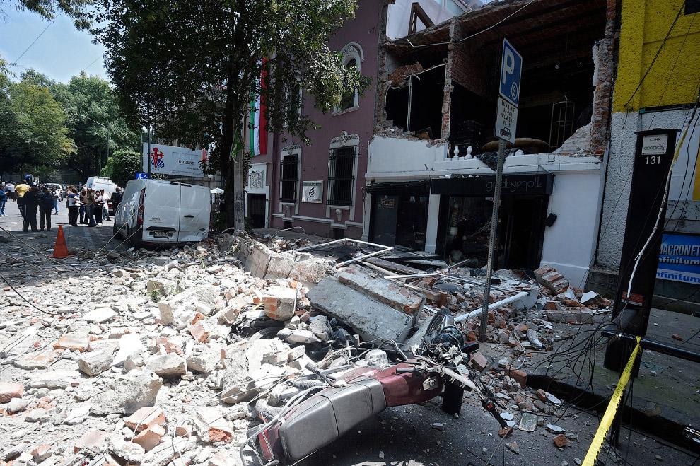 8. Мехико, 19 сентября 2017. (Фото Claudia Daut | Reuters):