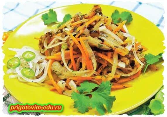 Баклажаны по-корейски (салатик)