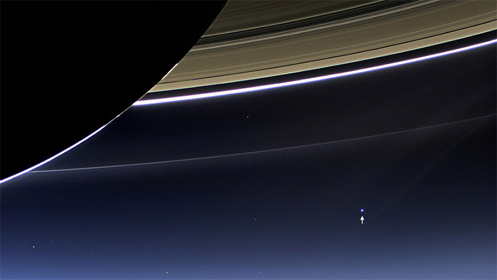 Yesterday NASA published a new photograph taken on July 19, 2013, by a wide-angle camera on the Cass