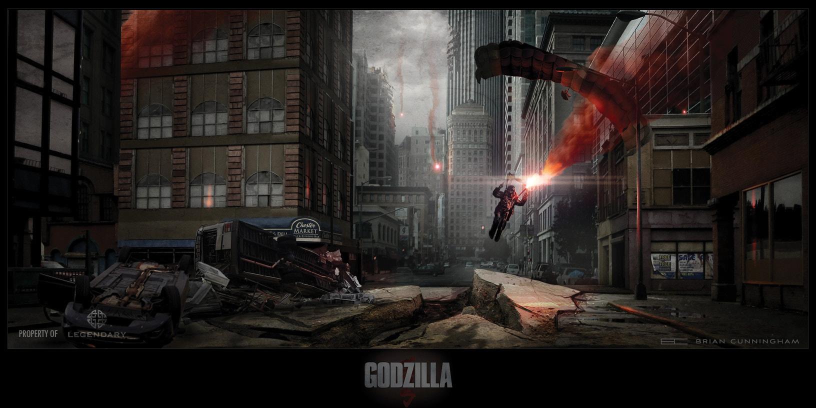 Godzilla Concept Art by Brian Cunningham