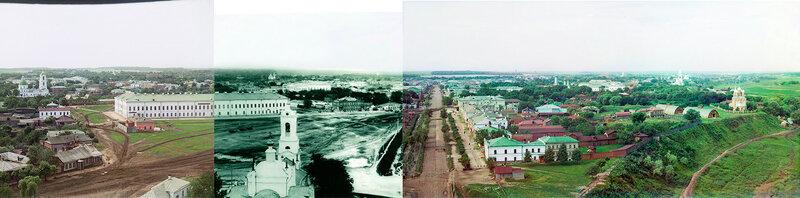 Панорама Рязани с соборной колокольни кремля, 1912 год.jpg