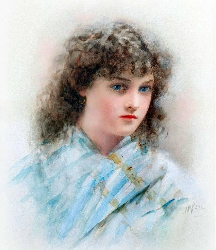 Alexander M. Rossi (British, 1840-1916) Italian peasant girl.jpg
