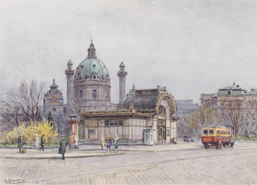 Saint Charles's Church in Vienna , 1931