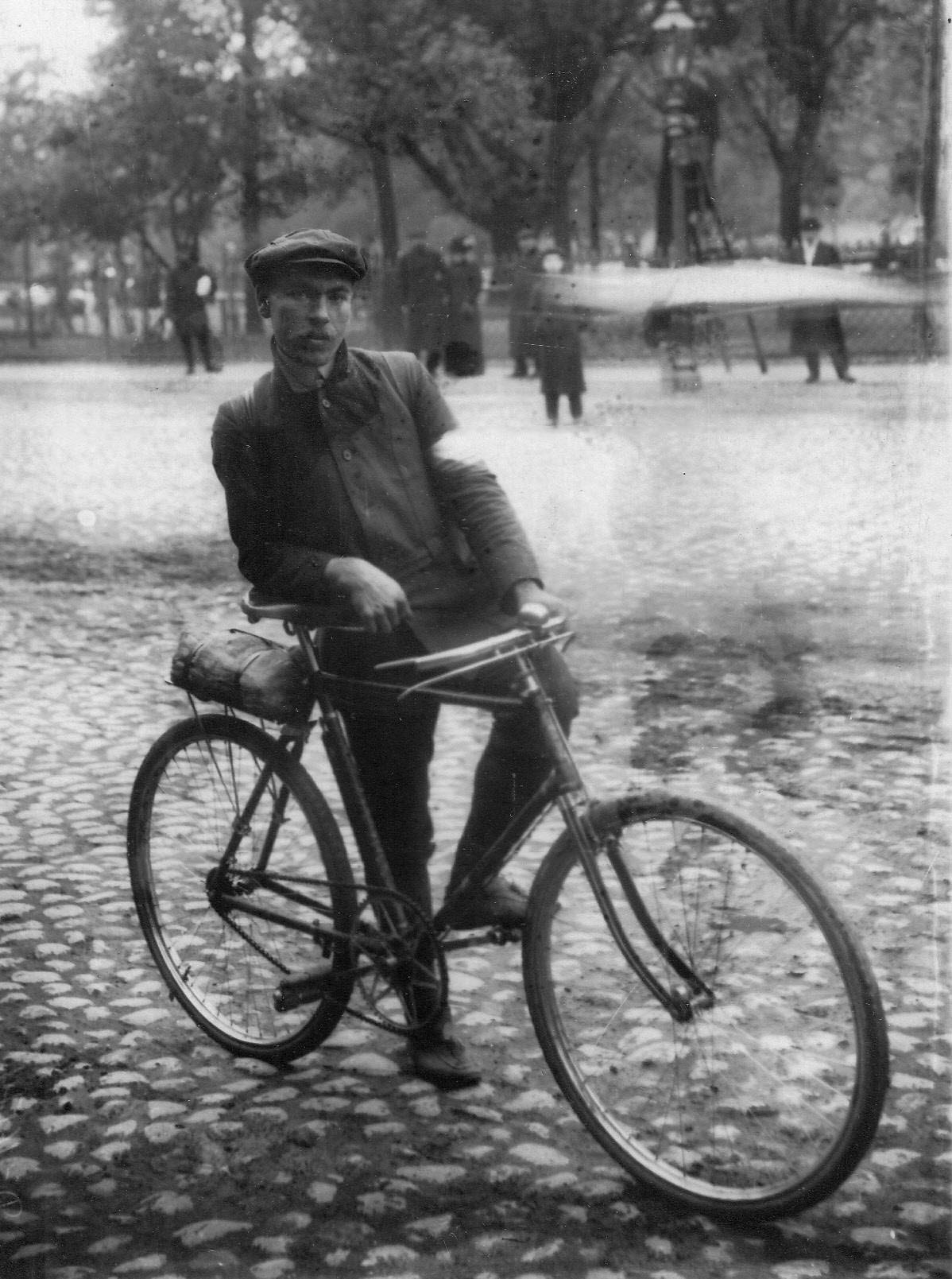 Велосипедист Л.И.Нагорный