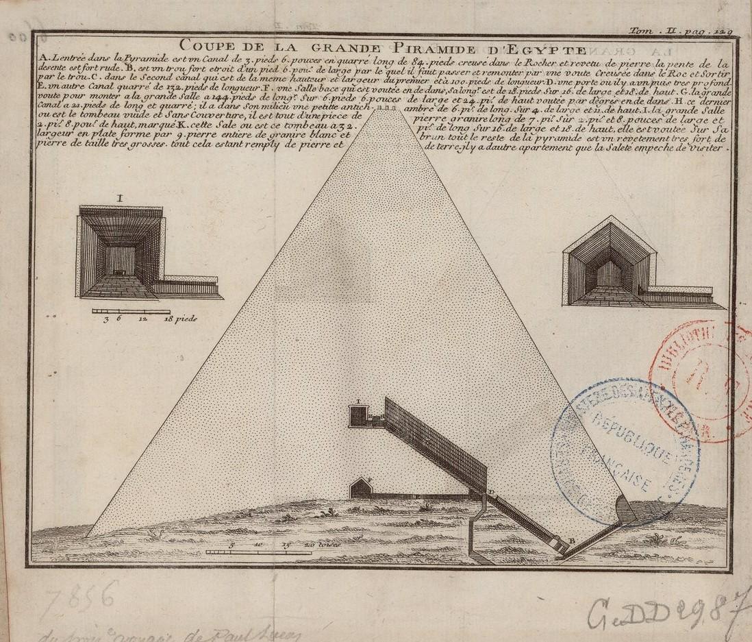План Великой пирамиды в разрезе