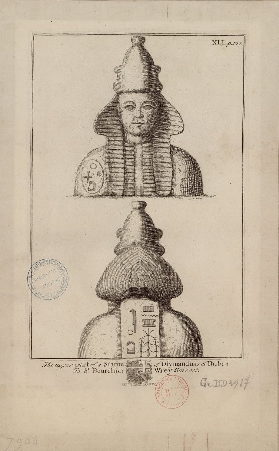 Верхняя часть статуи Озимандия в Фивах