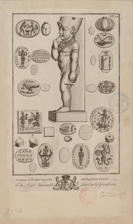 Статуя Гарпократа и египетские печати