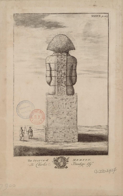 Статуя Мемнона в Фивах (вид сзади)