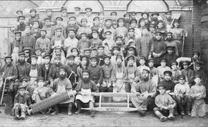 Рабочие чугунолитейного цеха. 1890