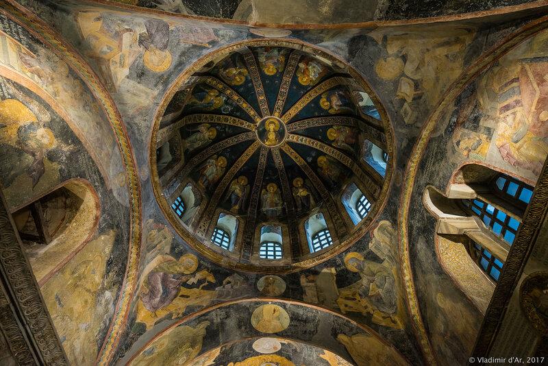 Западный компартимент парэклессия. Мозаики и фрески монастыря Хора. Церковь Христа Спасителя в Полях.
