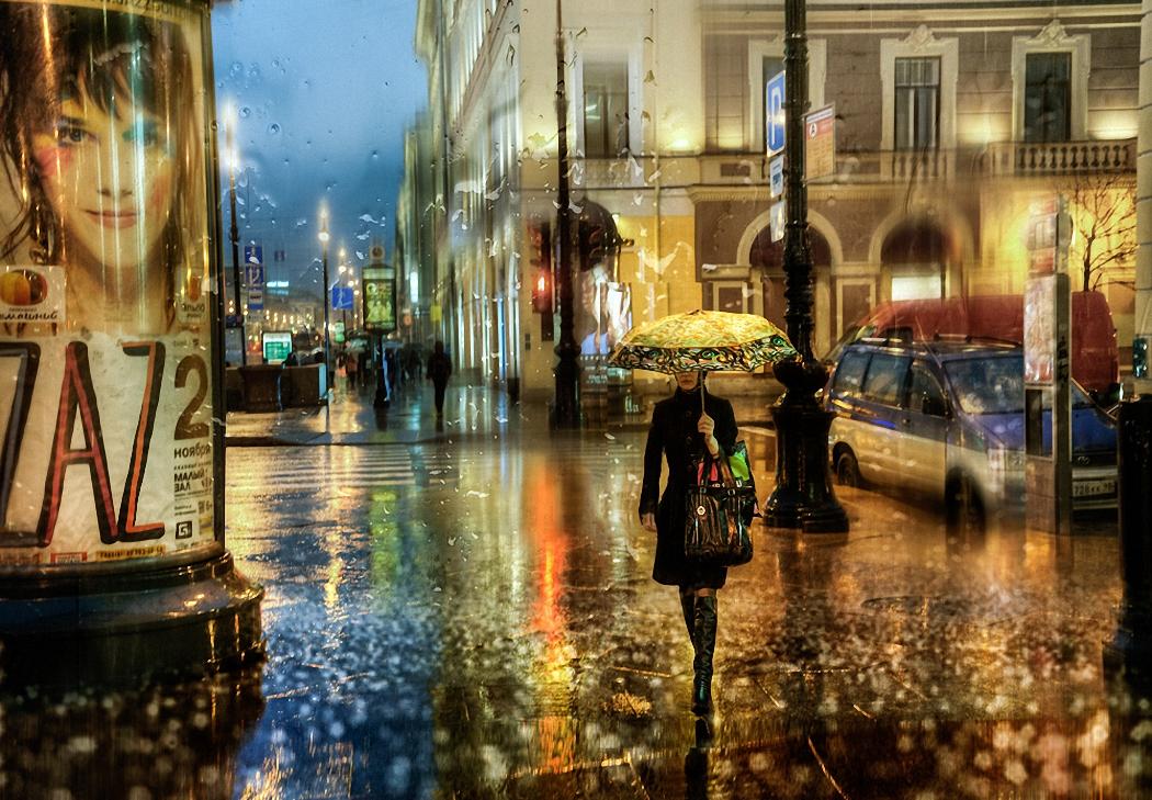 меня в городе дождь открытки места