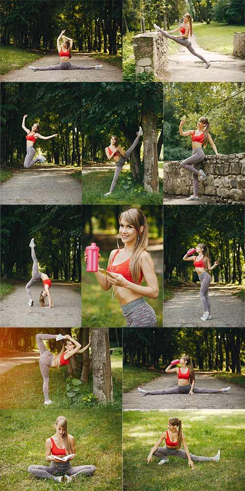 Клипарт - Спортивная девушка / Clipart - Sports girl
