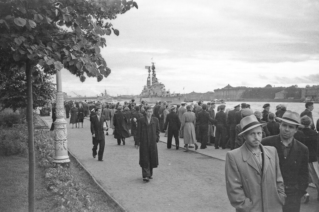 Голландские корабли в Ленинграде, июль 1956