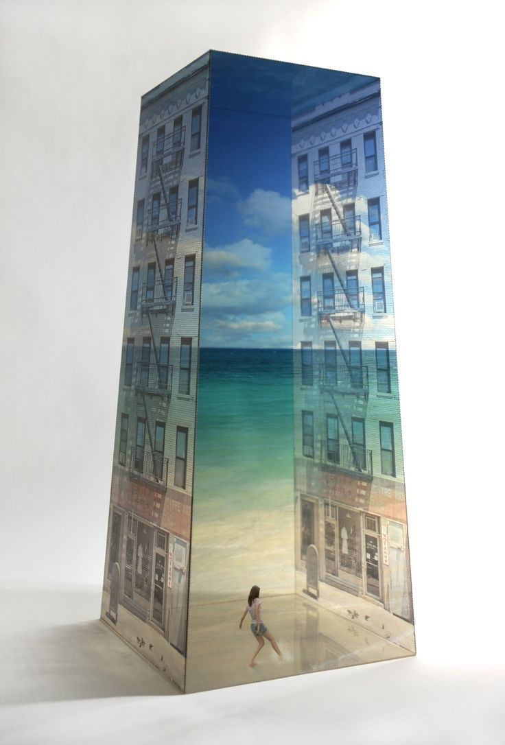 Poetic Sculptures of Semi-Transparent Buildings