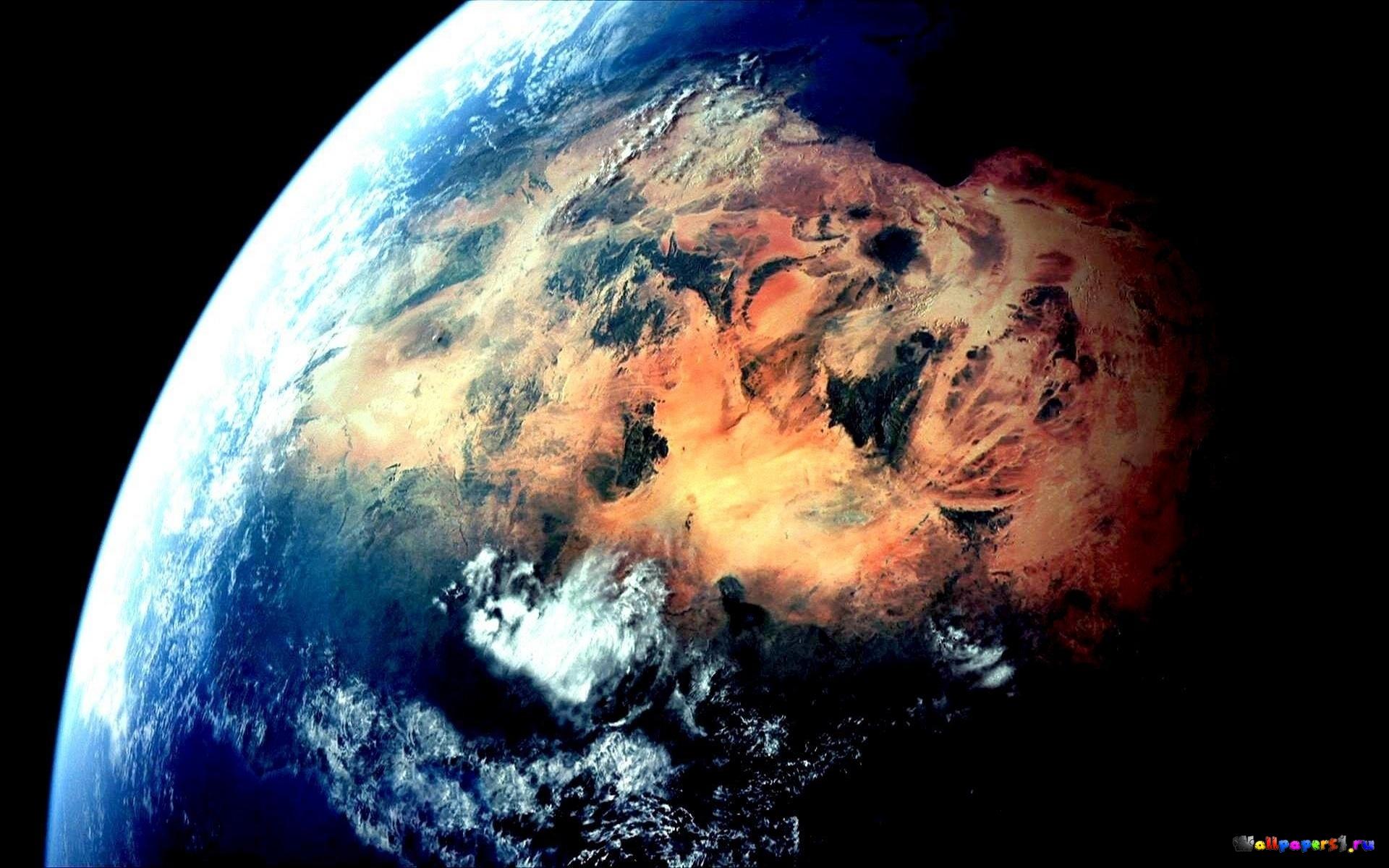 Обои Земля из космоса картинки на рабочий стол на тему Космос - скачать скачать
