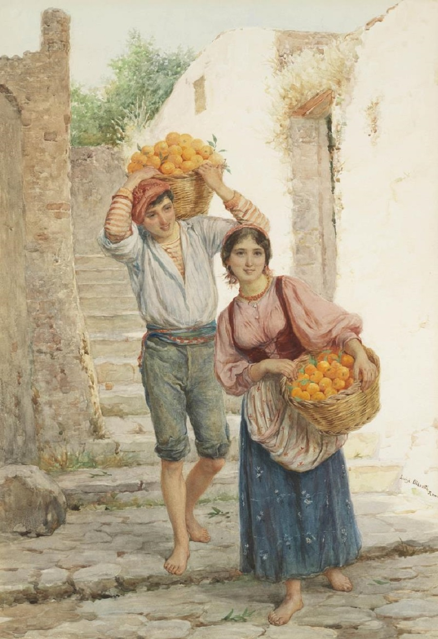 Baskets of oranges