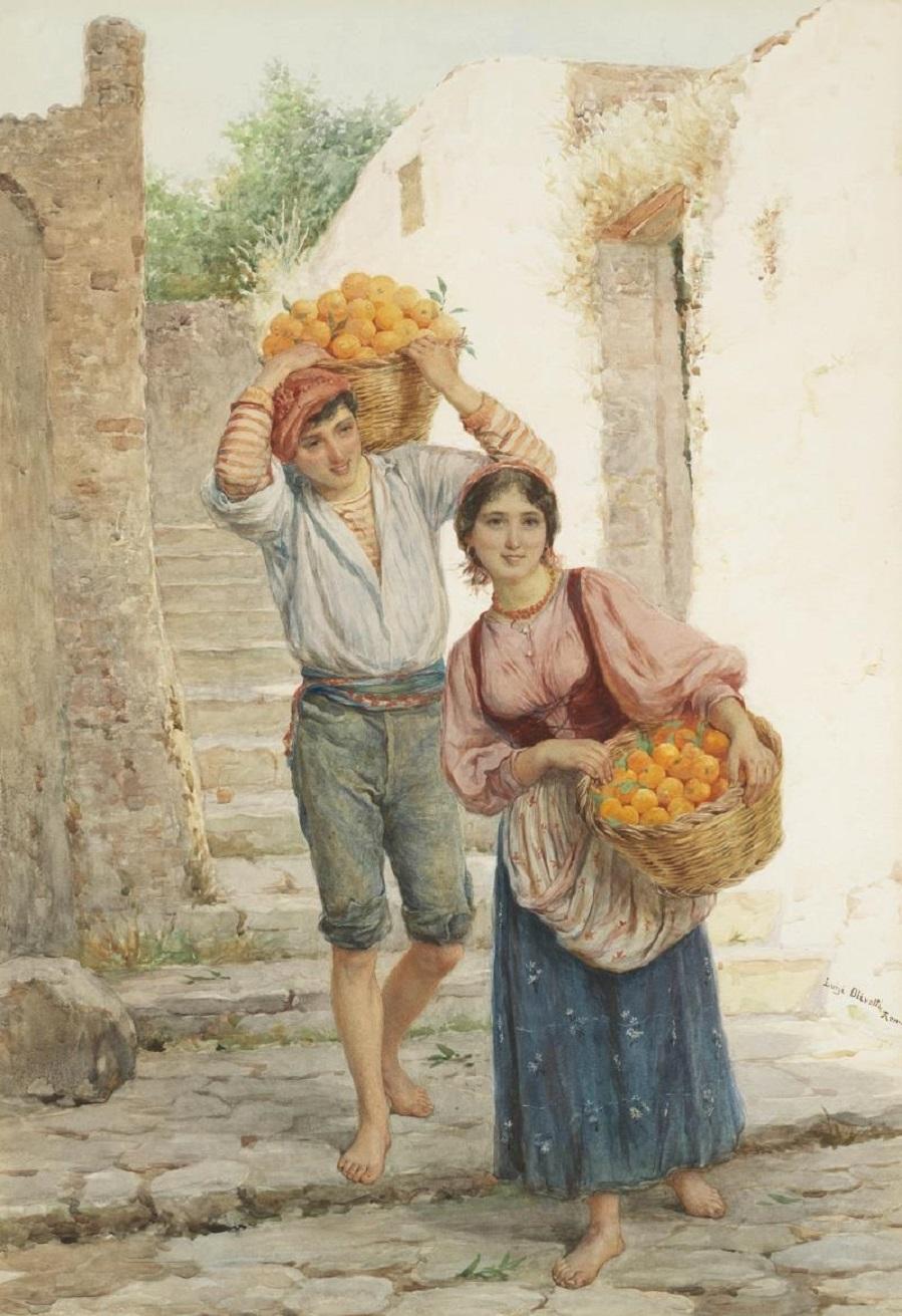 Baskets of oranges