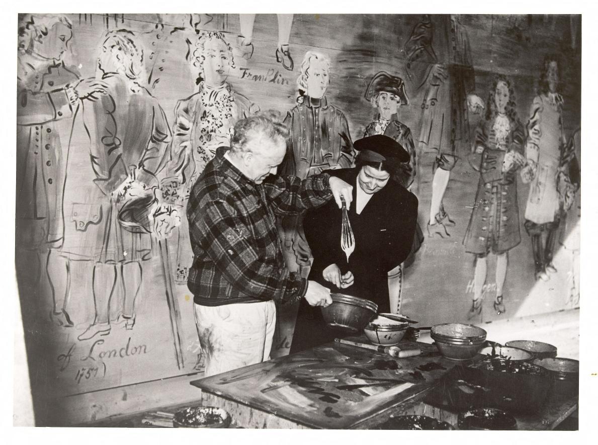 Экспериментальная лаборатория. Французский художник Рауль Дюфи и Тереза Бонни а созданием фрески Фея Электричества