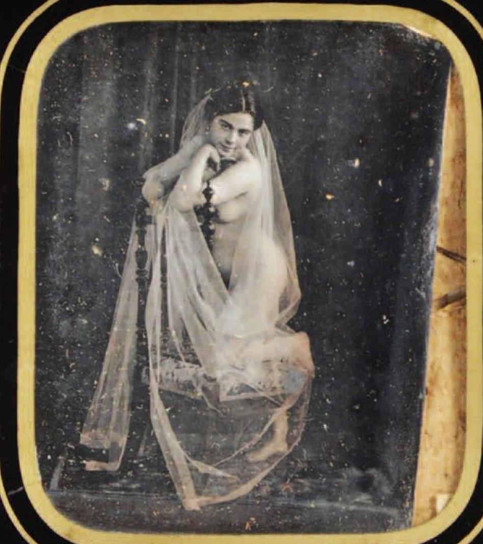 1850. Обнаженная в кисее