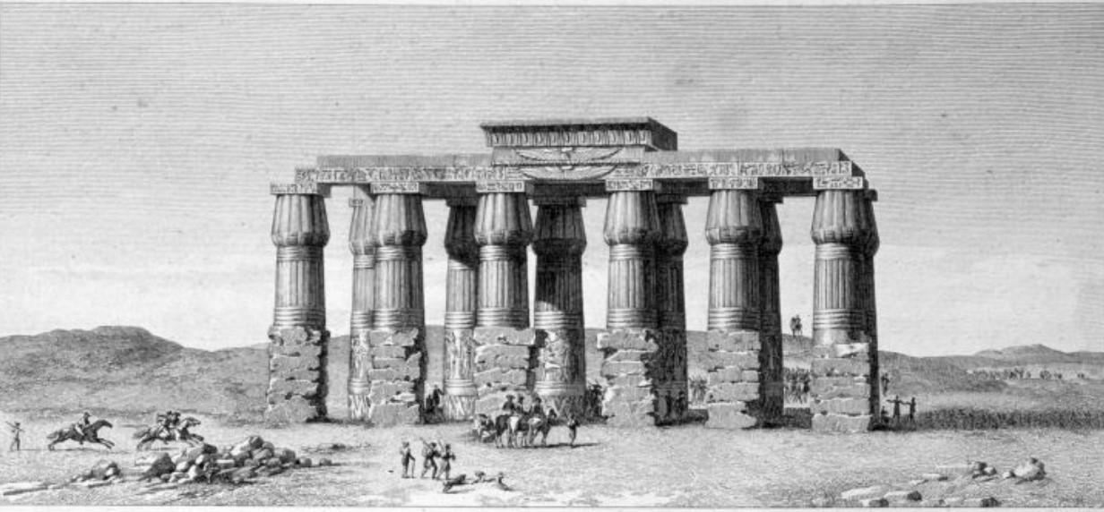 1841. Руины храма в Гермополисе