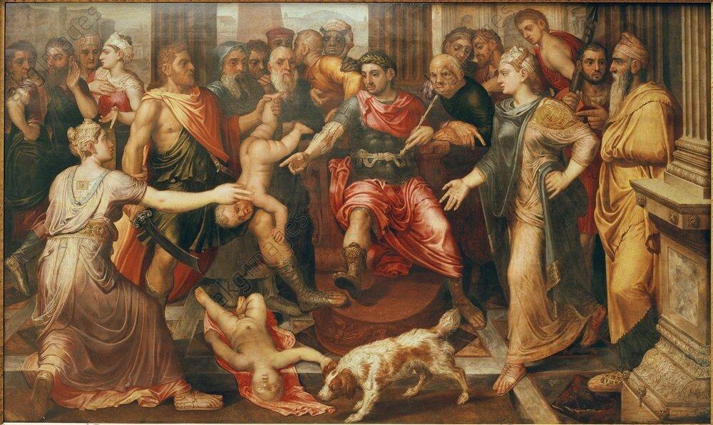 Floris, Urteil des Salomon - Judgement of Solomon / Floris/ c.1545/50 - Floris, Jugement de Salomon