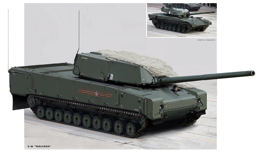 Сербский художник представил, как может выглядеть российская военная техника в будущем