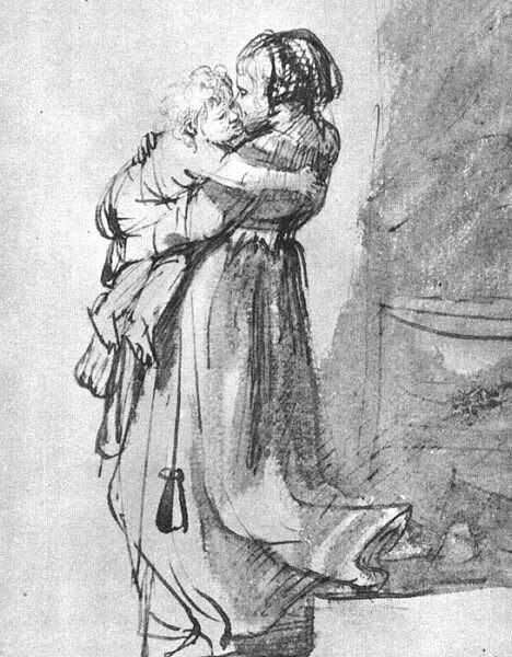 Саския с ребенком, 1636.