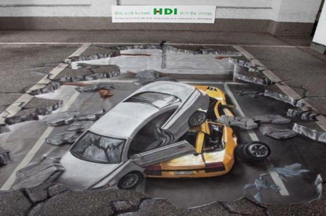 Невероятные 3D рисунки на асфальте, которые поразят ваше воображение