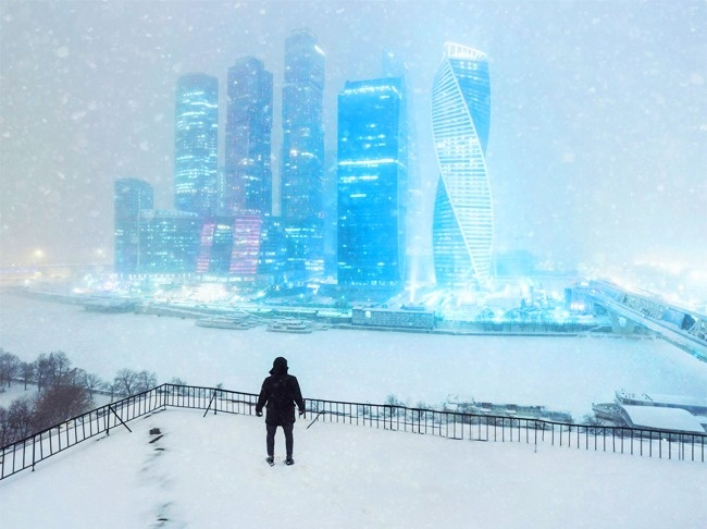 © EphemeralDemesne/reddit      Ночь. Улица. Снег