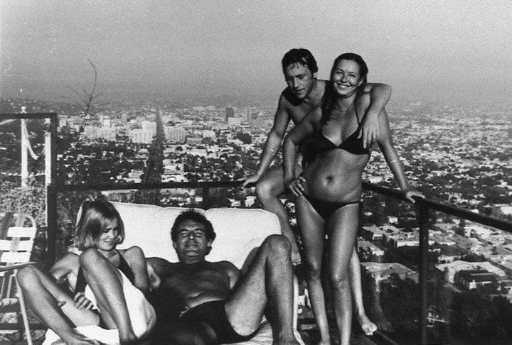 21. Джессика Лэнг, Милош Форман, Владимир Высоцкий, Марина Влади. США, Лос-Анджелес, 1976 год