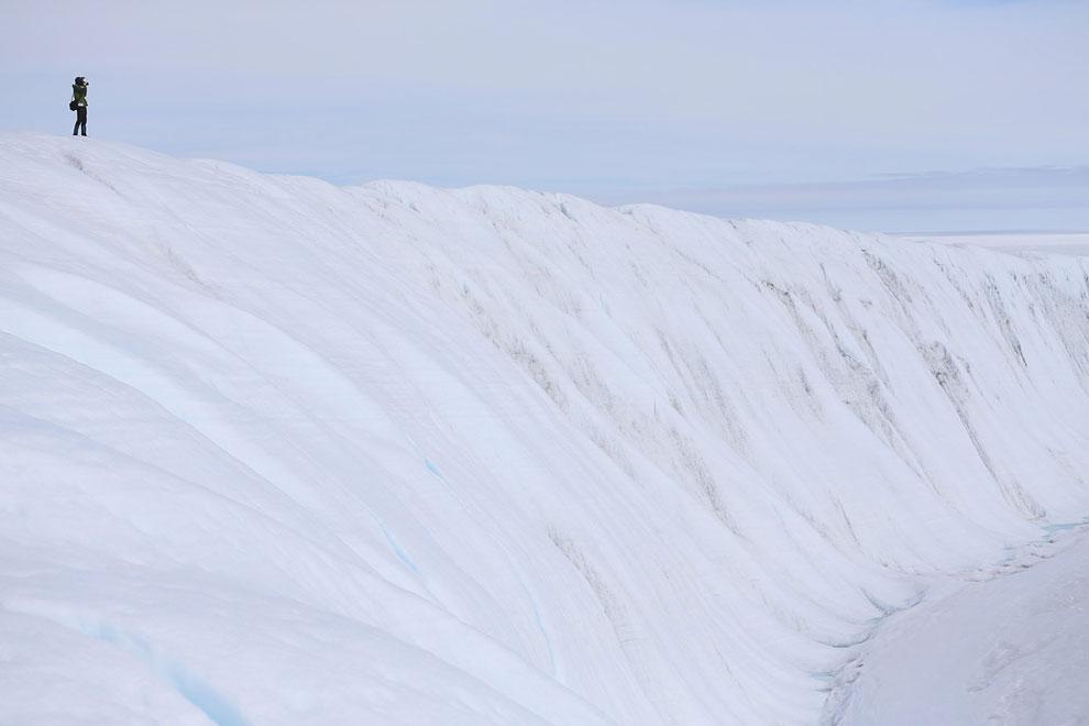 Палатка ученых-исследователей ледникового покрова, Гренландия, 15 июля 2013. (Фото Joe Raedle | Gett