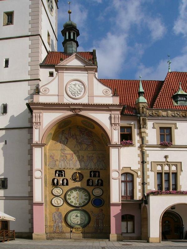 Orloj in Olomouc.