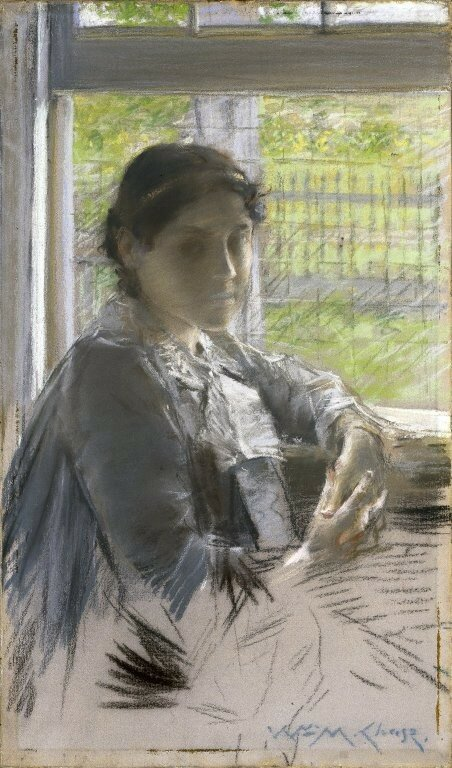 Brooklyn Museum - At the Window - William Merritt Chase - overall