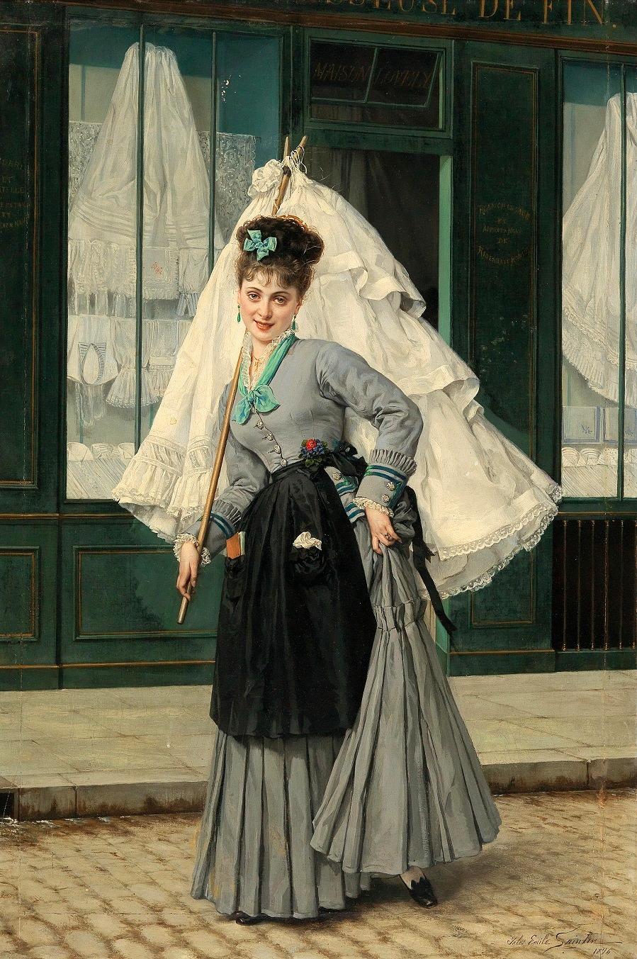 Jules Emile Saintin (Lemé 1829–1894 Paris) Running an errand