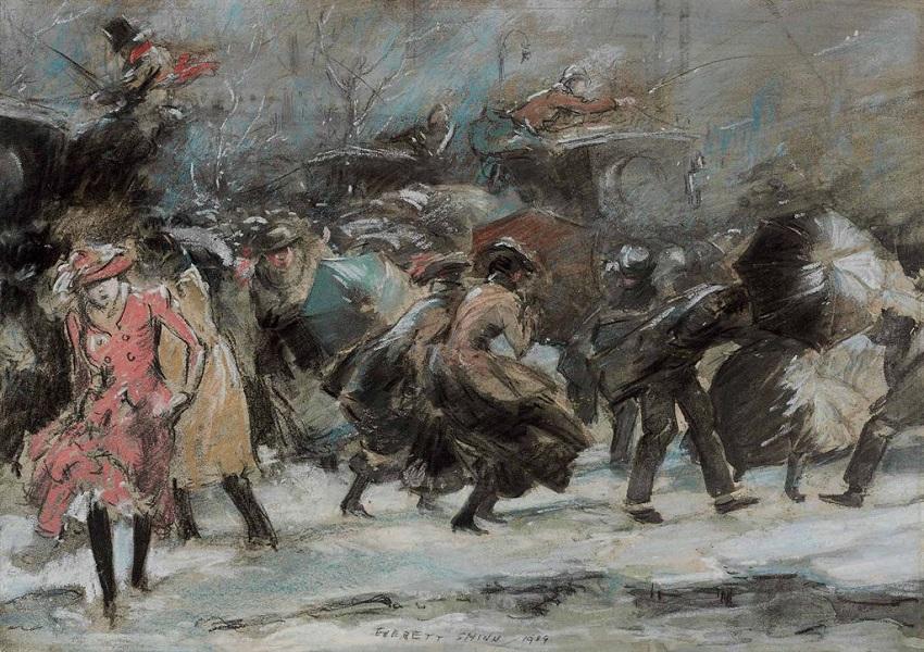 1909 Метель на Бродвее (Snowstorm Broadway).