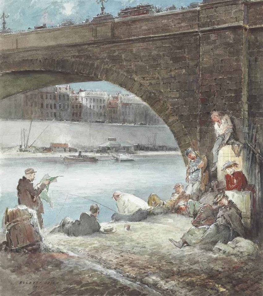 Fishing on the Seine, 1951
