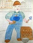 Крашенинникова Алёна (рук. Седова Наталья Геннадьевна) - Профессия строитель