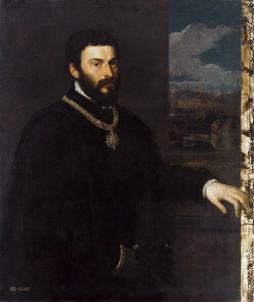 Портрет графа Антонио Порчиа э Бруньера1530-40.