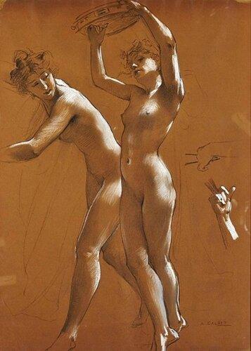 Antoine Calbet (1860 – 1944, French) Tambourine Dance