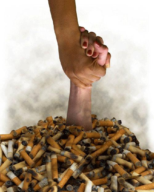 Открытки. Международный день отказа от курения. Рука помощи