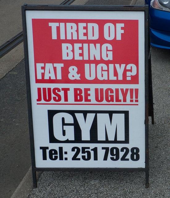 Устал быть жирным иуродливым? Будь просто уродливым! Спортзал.    8. Рассказыва