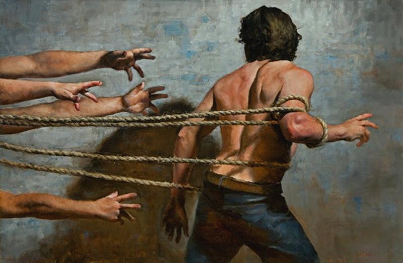 Драматичная живопись Зака Здраля