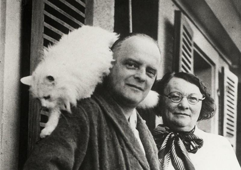 7. Пауль Клее с котиком Бимбо.
