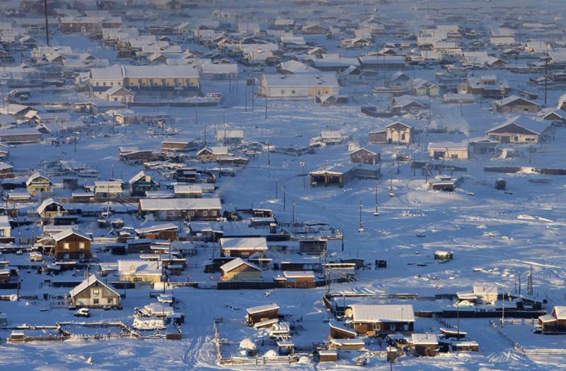 Оймякон, Россия   Оймякон наиболее известен как один из«полюсов холода»на пла