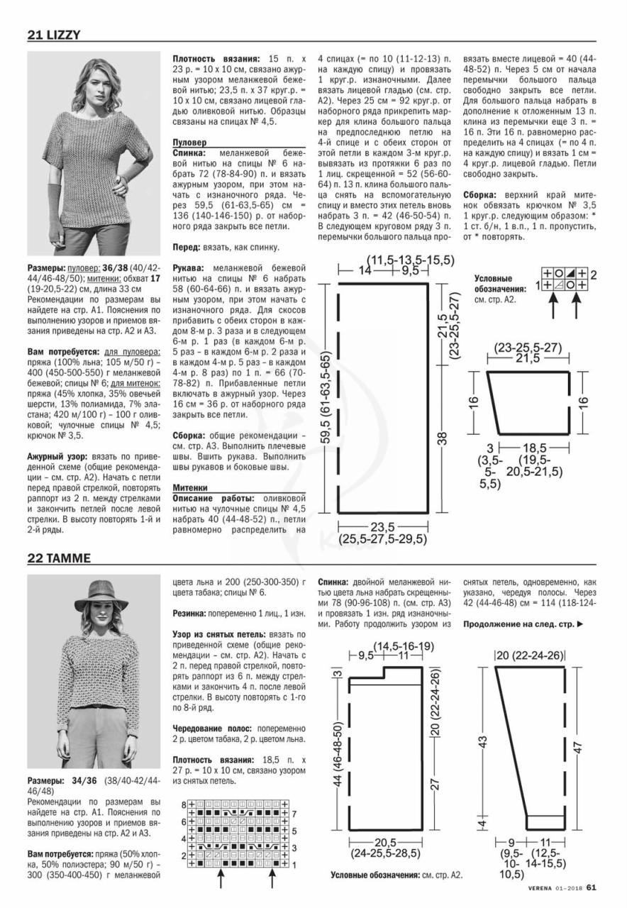 Журнал верена вязание спицами 2 2018 со схемами 17
