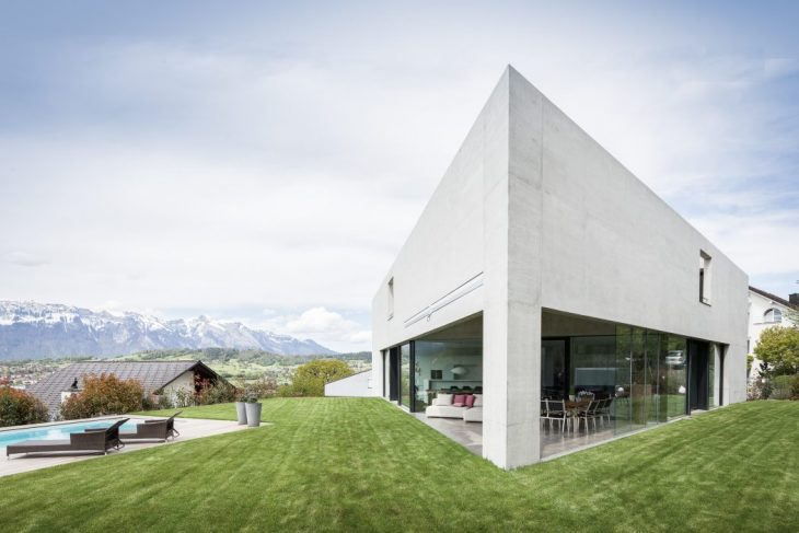 Ritter Schumacher designed this modern family residence located in Nendeln, Liechtenstein, in 2016.