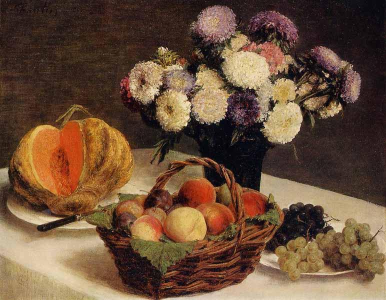 Анри Фантен-Латур. Астры и фрукты..jpg